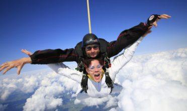 joga, skoki na spadochronie