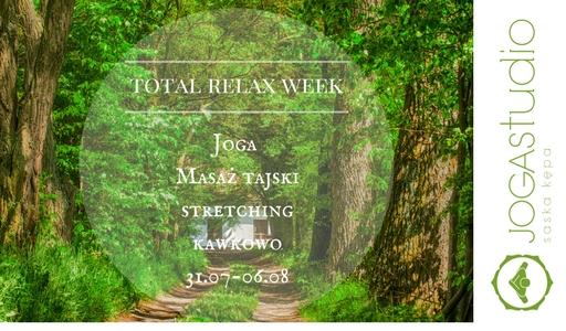 Joga Studio Saska Kępa: Total relax week: Joga, masaż tajski, stretching (Nowe Kawkowo, Mazury)