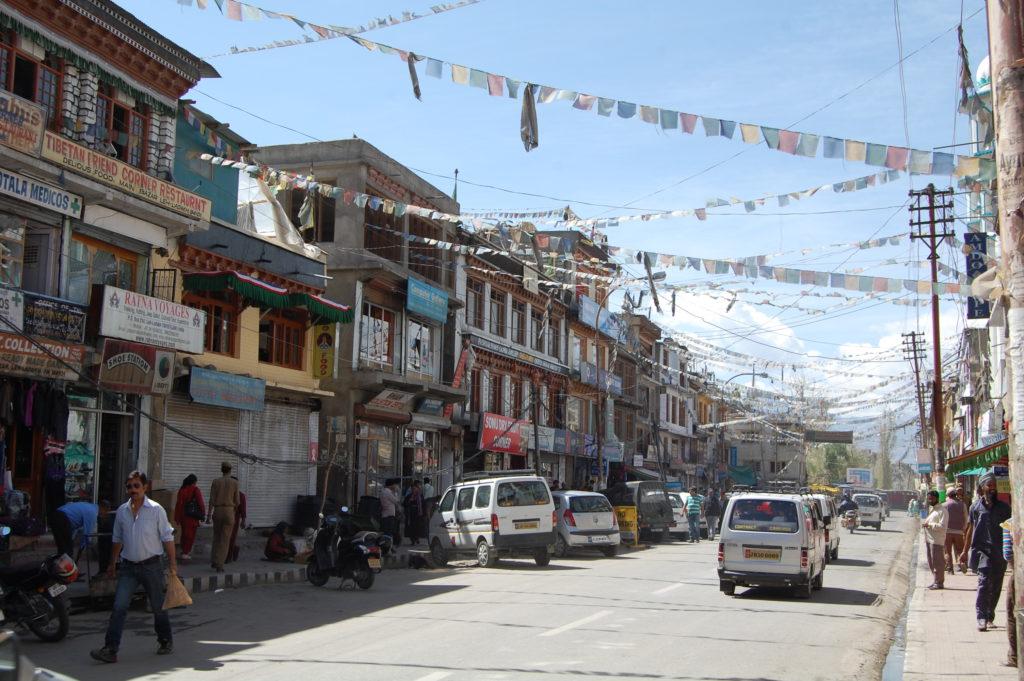 Na jednej z głównych ulic Leh, fot. Ania Chomczyk