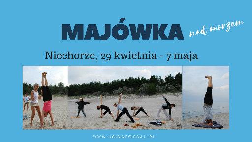 Joanna Jedynak Adam Ramotowski Joga Foksal majówka nad morzem Niechorze 2017