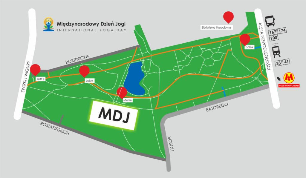 2017 dzień jogi mapa Pole Mokotowskie gdzie świętujemy dzień jogi