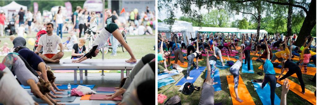 Międzynarodowy Dzień Jogi, trzeci dzień jogi, Pole Mokotowskie, fot: Dzień Jogi w Polsce, www.dzien-jogi.pl