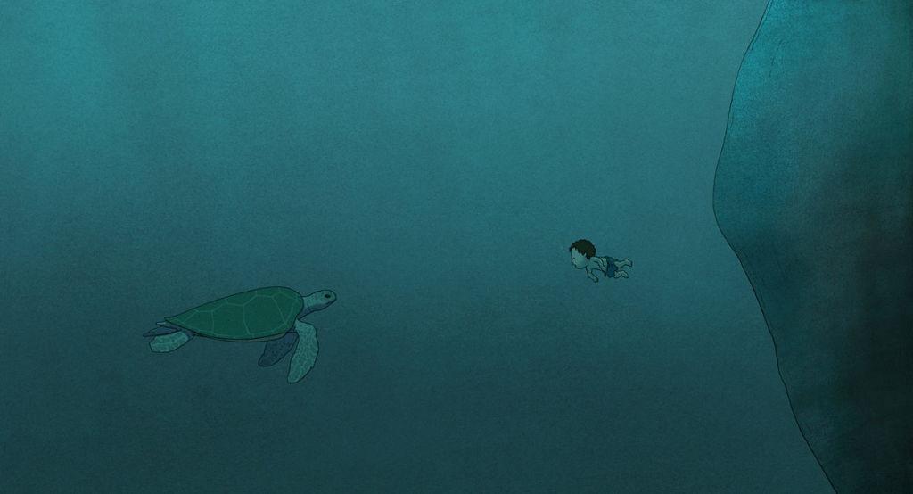 Czerwony żółw Gutek FIlm La tortue rouge