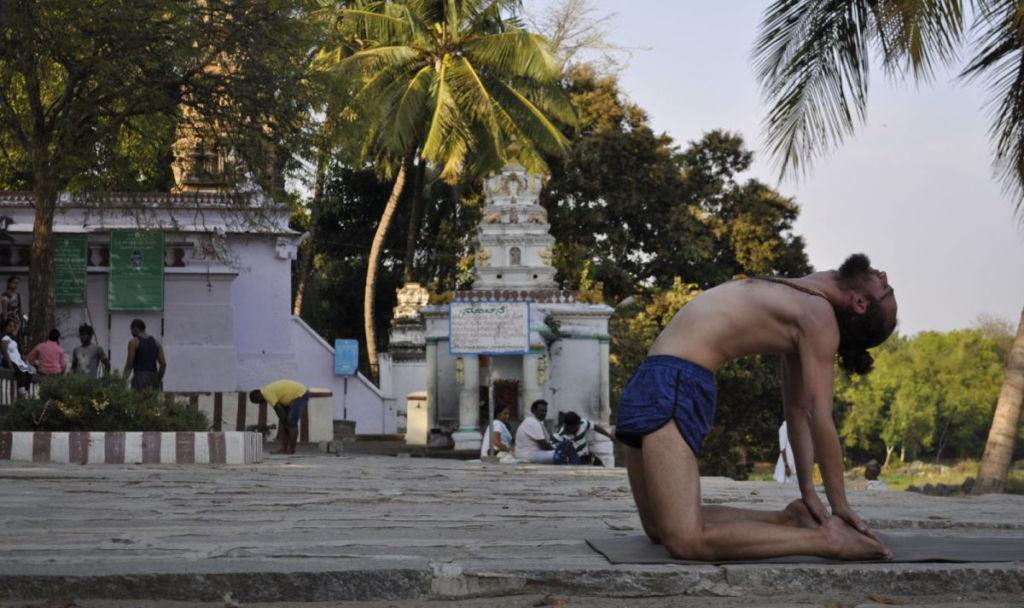 Krystian Mesjasz, Ashtanga joga, Indie, Mysore,
