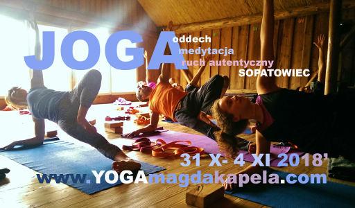Magda Kapela: Joga w Sopatowcu: oddech, medytacja, body mind centering (Beskid Sądecki) jesień 2018