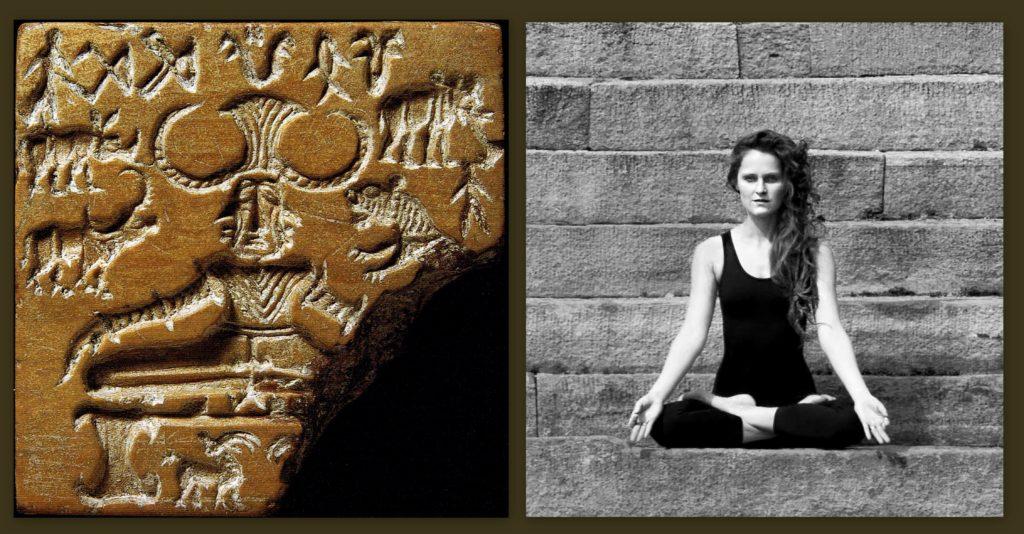 Po lewej: pieczęć z pieczęć z wizerunkiem Paśupati z epoki brązu. Zdjęcie (www.columbia.edu)
