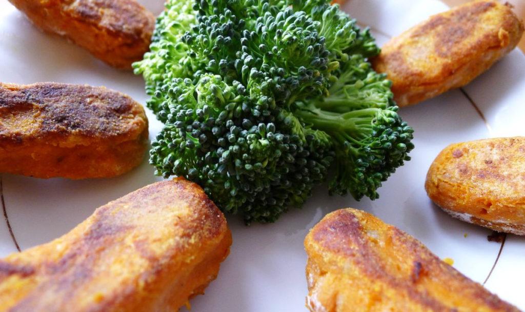 wegańskie potrawy, paluszki z fasoli